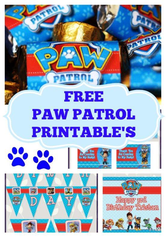 Paw Patrol Geburtstagsparty  free paw patrol party printables