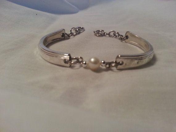 Pearl Geschenke  Freshwater Pearl Spoon Bracelet Silverware Jewelry
