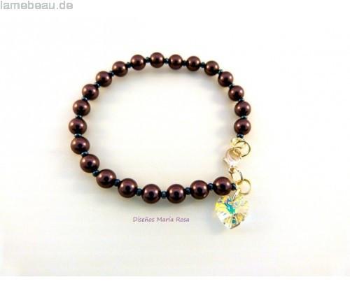 Pearl Geschenke  Hochzeitstag Geschenke Swarovski Pearl Bracelet Burgundy