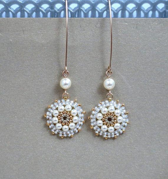 Pearl Geschenke  Lange Perlen Ohrringe Pearl Hochzeit Ohrringe von