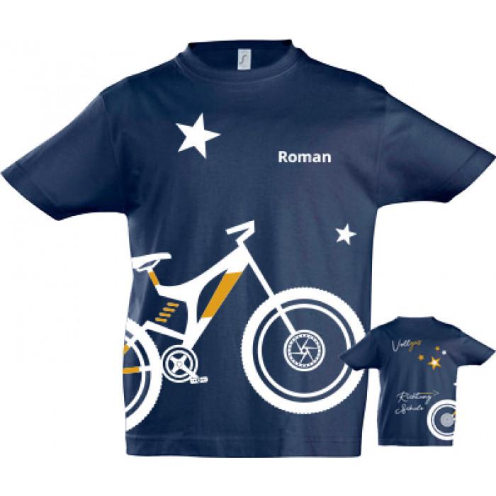 Personalisierte Geschenke Zur Einschulung  Personalisierte Geschenke zur Einschulung T Shirt mit Bike