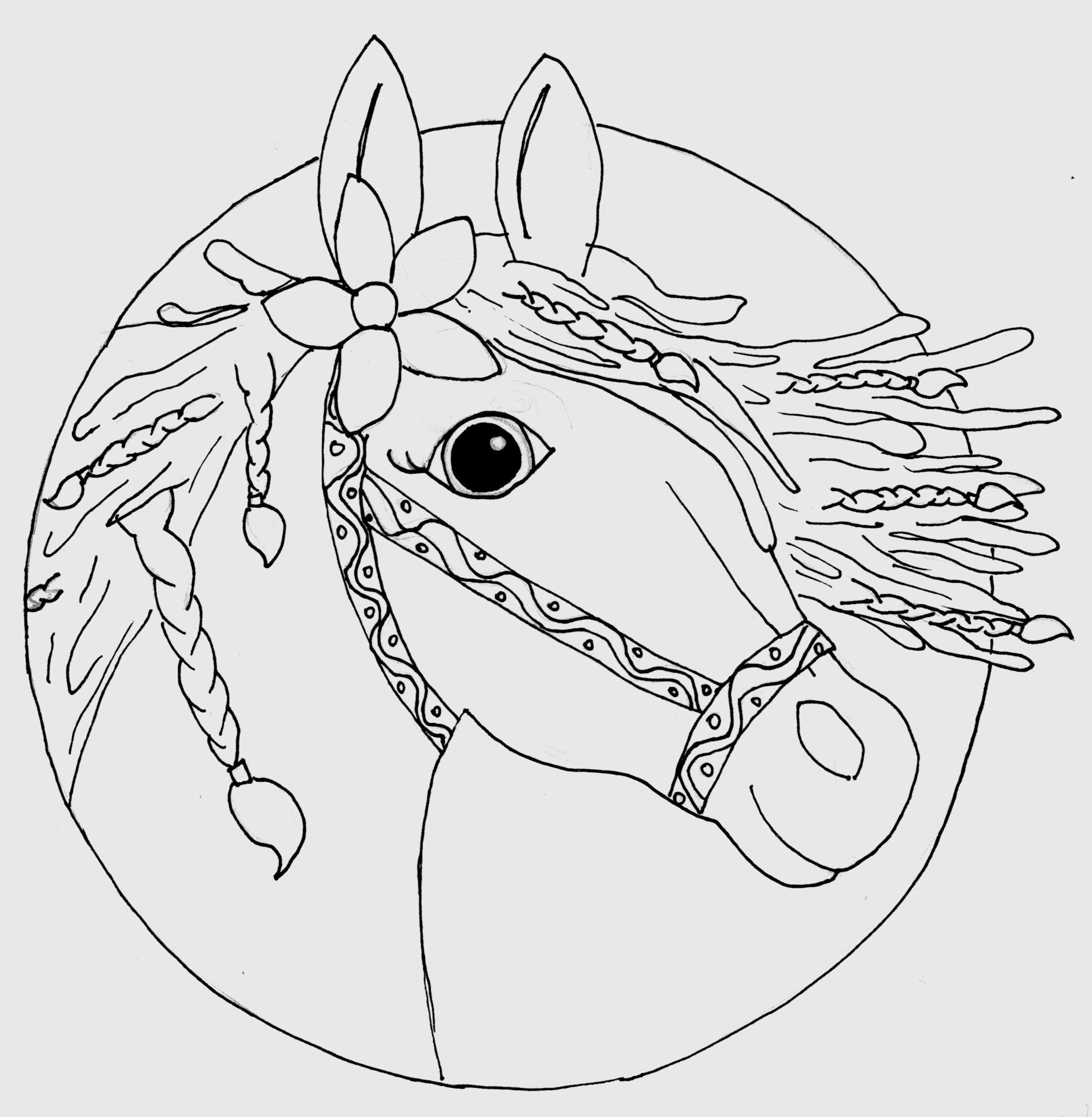 Pferdekopf Ausmalbilder  Ausmalbilder Rapunzel Pferd – Ausmalbilder Webpage
