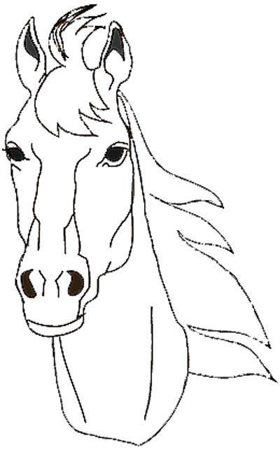 Pferdekopf Ausmalbilder  Pferdekopf Malvorlage Malvorlagen