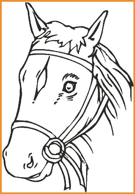 Pferdekopf Ausmalbilder  9 Malvorlage Pferdekopf Zum Ausdrucken Kostenlos