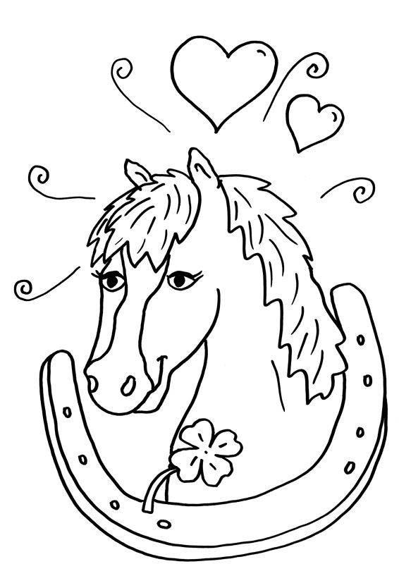 Pferdekopf Ausmalbilder  Ausmalbilder für Kinder Malvorlagen und malbuch