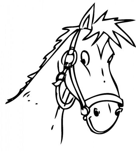 Pferdekopf Ausmalbilder  Kostenlose Malvorlage Tiere Pferdekopf zum Ausmalen