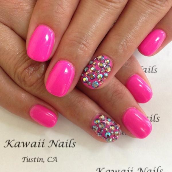 Pink Nageldesign  125 Nageldesign Ideen Pastelltöne und geometrische Muster