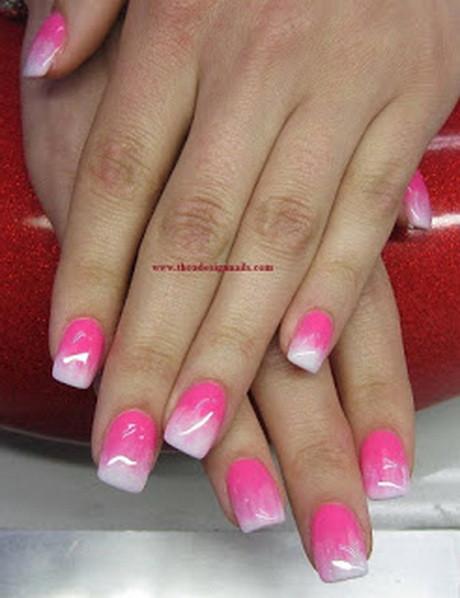 Pink Nageldesign  Nageldesign pink weiß
