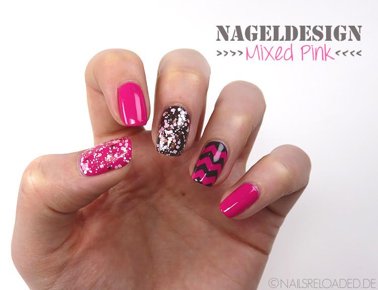 Pink Nageldesign  nails reloaded Nageldesign mixed pink