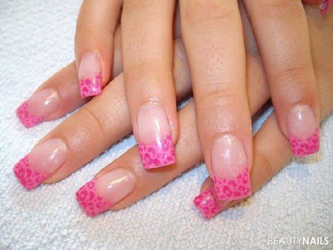 Pink Nageldesign  Pink Leo o Nageldesign
