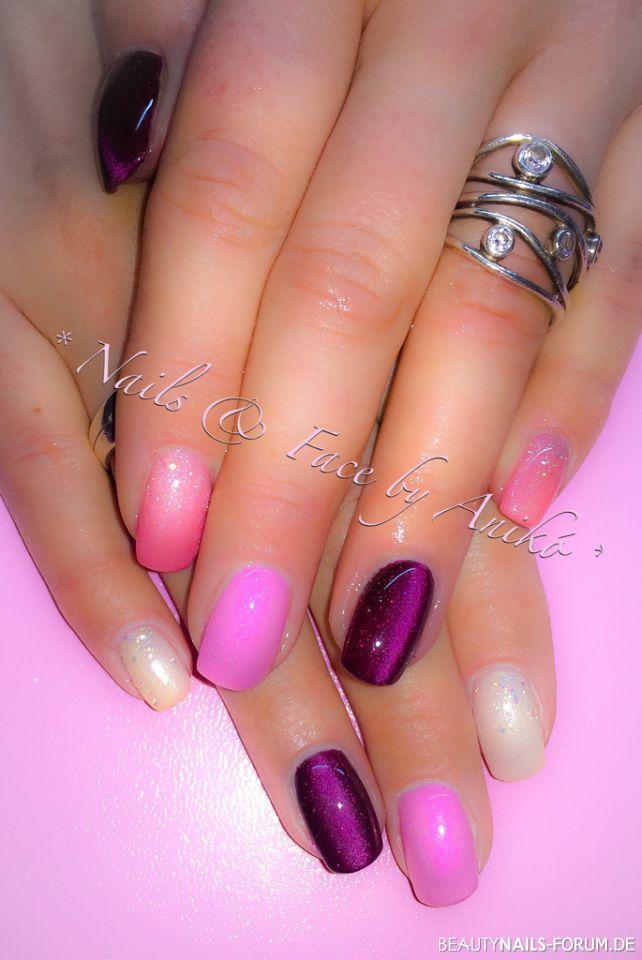 Pink Nageldesign  Geniale Lila Nageldesign Bilder