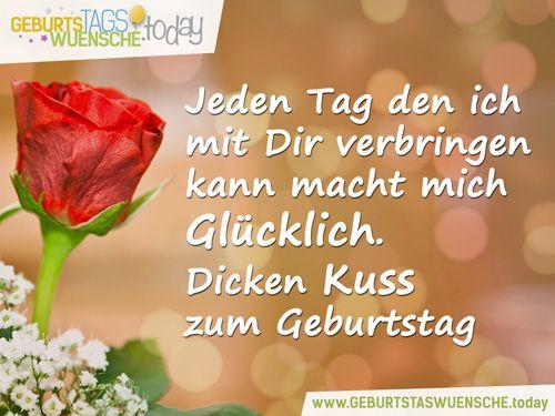 Pinterest Geburtstagswünsche  Liebevolle Geburtstagswünsche – Dicken Kuss zum Geburtstag