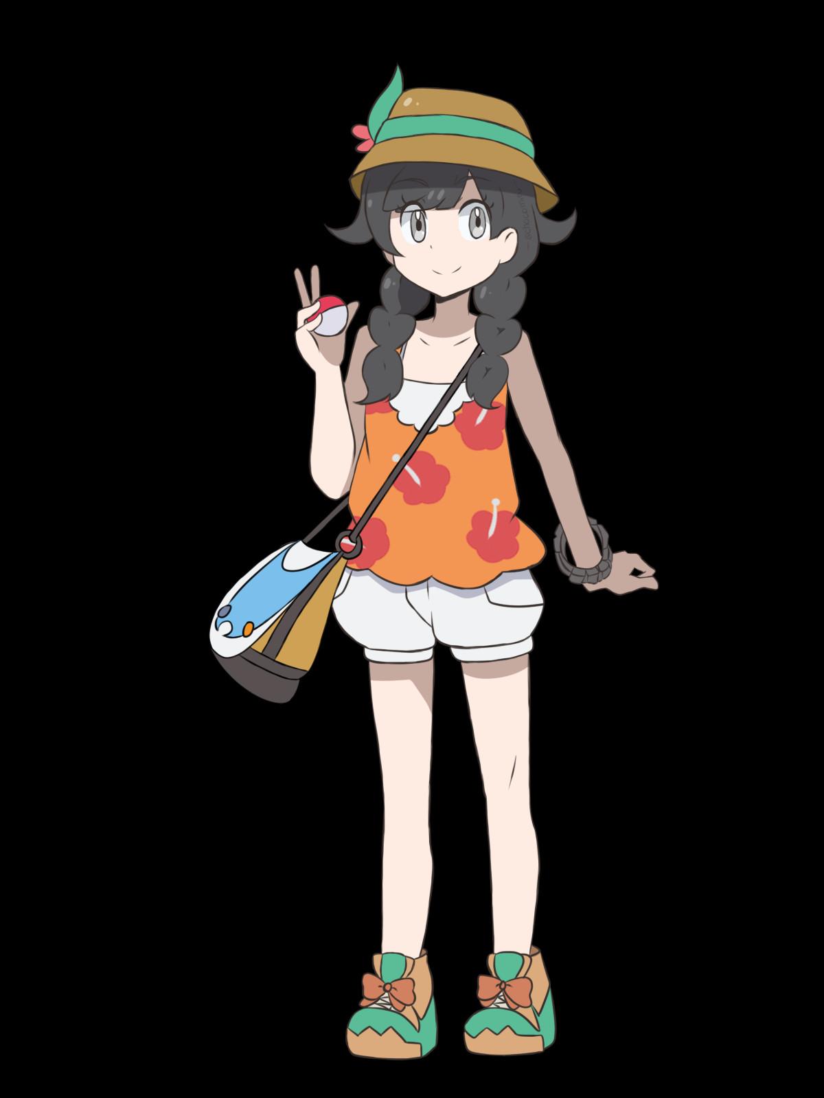 Pokemon Ultrasonne Frisuren  Pokemon USUM Protagonist Anime Style by cho iru02 on