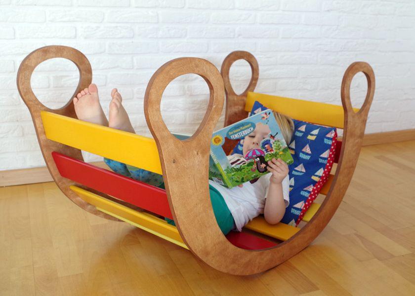 Regenbogenwippe Diy  Spielmöbel für kleine und große Kinder Kletterbogen