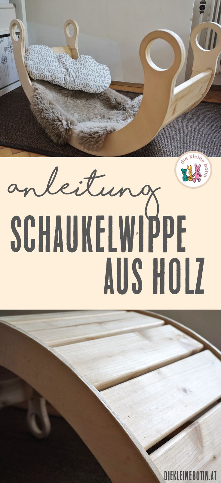 Regenbogenwippe Diy  DAS informative Mamablog DIY Holz Pinterest