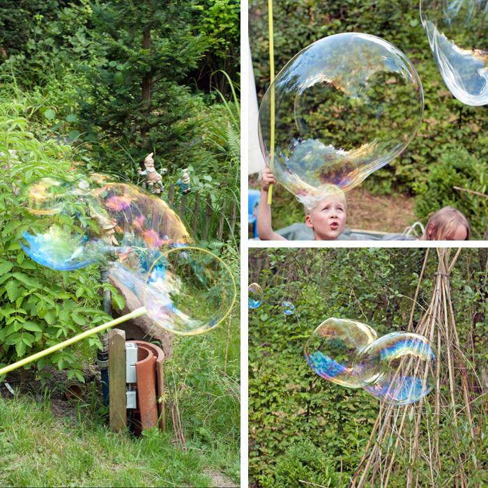 Riesenseifenblasen Diy  DIY Kinderspiele mit Wasser und Seife
