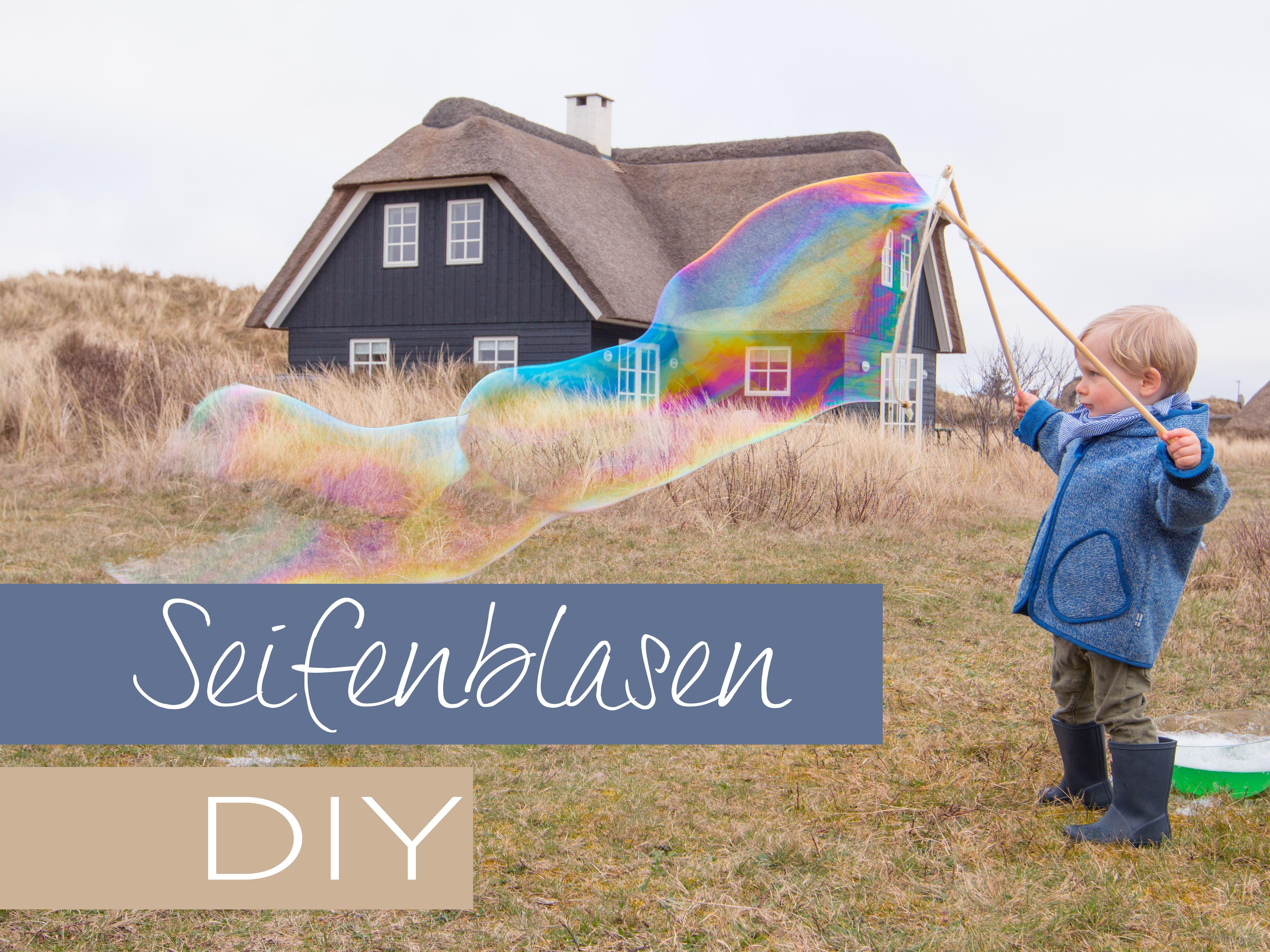 Riesenseifenblasen Diy  Riesenseifenblasen sleber maschen ein DIY für