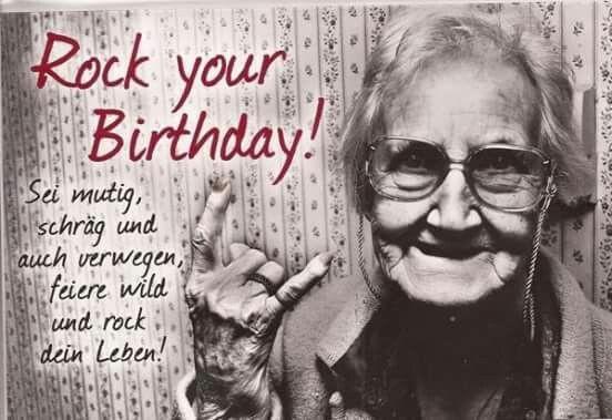 Rockige Geburtstagswünsche  Rock your Birthday Geburtstag Pinterest