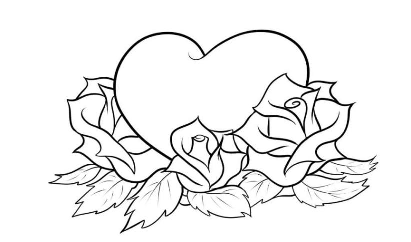 Rosen Ausmalbilder  Vorlagen zum Ausmalen Malvorlagen Herzen Ausmalbilder 2