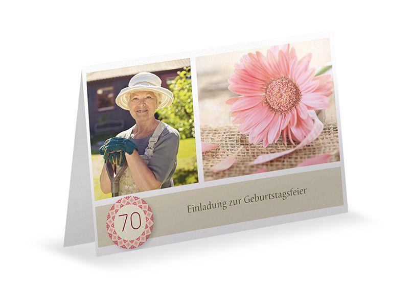 Rossmann Geburtstagskarten  Einladungskarten 70 Geburtstag Has