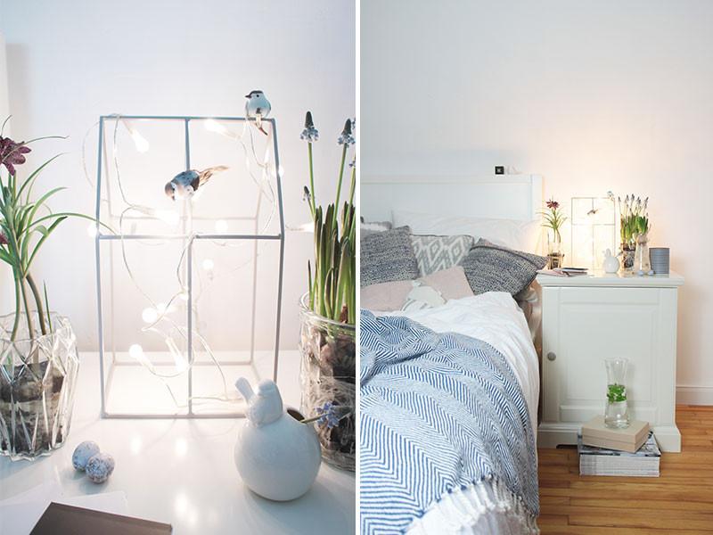 Schlafzimmer Diy  Frühlingsdeko im Schlafzimmer & DIY Kissenbezug