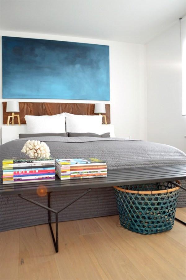 Schlafzimmer Diy  Umstyling im Schlafzimmer DIY Wandbild und