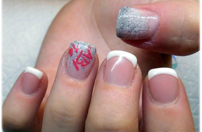 Schlichtes Nageldesign Glitzer  Pink Fullcover Nails [Nageldesign]
