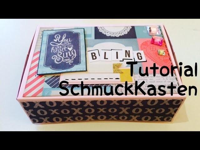 Schmuckkästchen Diy  Scrapbook Schmuckkästchen DIY [tutorial deutsch]