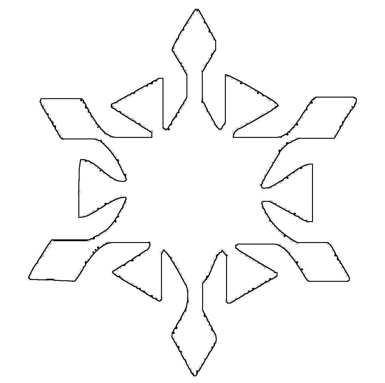 Schneeflocken Malvorlagen  Kostenlose Malvorlage Schneeflocken und Sterne