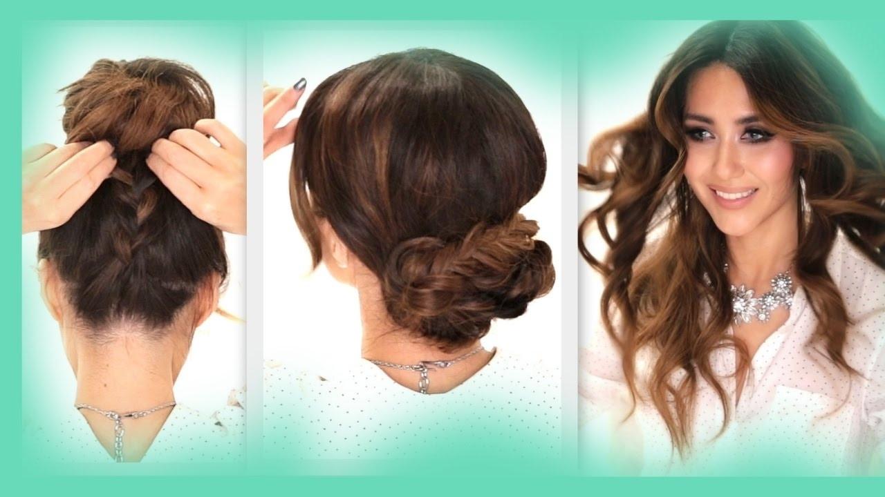 Schnelle Frisuren Für Die Schule  Frisur Für Welliges Haar Für Die Schule Für Schnelle