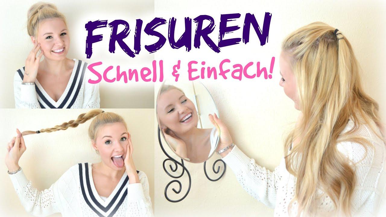 Schnelle Frisuren Für Die Schule  EINFACH & SCHNELLE FRISUREN für SCHULE UNI & SPORT