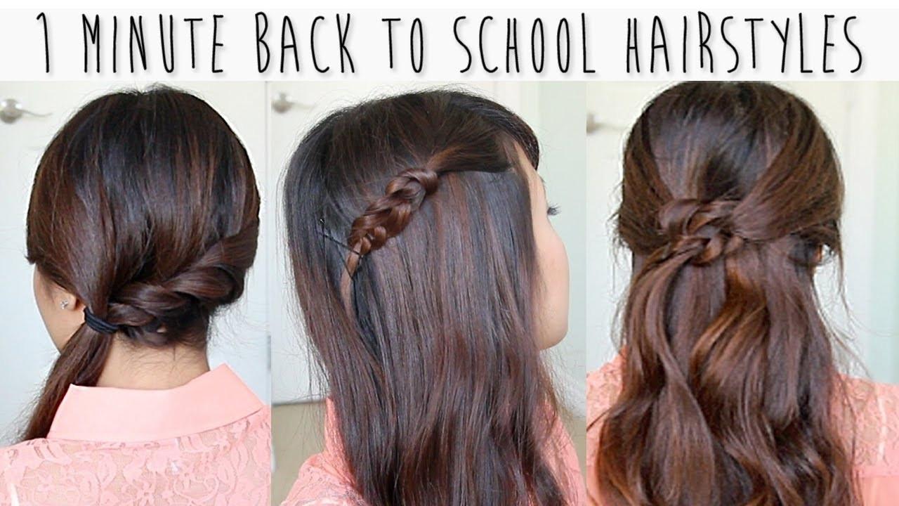 Schnelle Frisuren Für Die Schule  Frisur Für Lange Haare Für Die Schule Schnelle Und