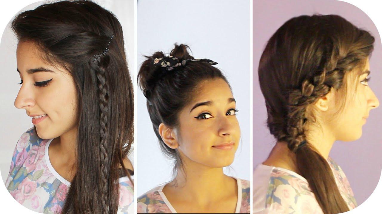 Schnelle Frisuren Für Die Schule  3 SCHNELLE und EINFACHE Frisuren für SCHULE