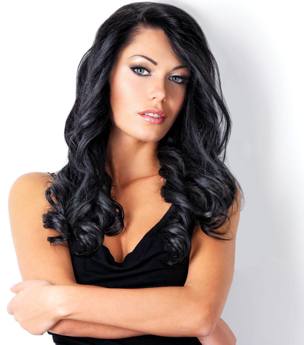 Schöne Frisuren Lange Haare  Lange schwarze Haare