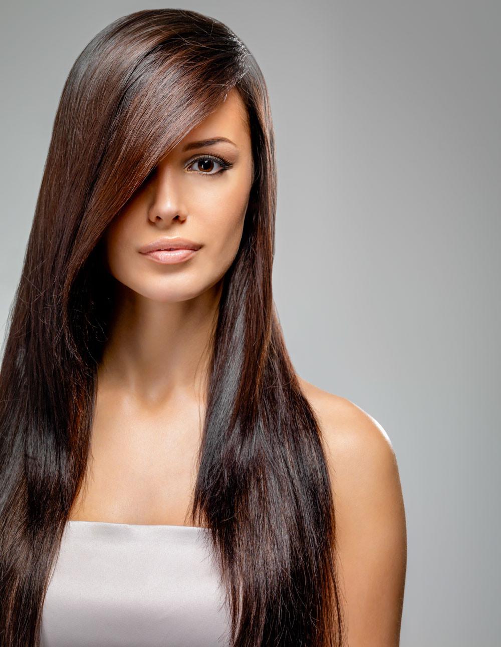 Schöne Frisuren Lange Haare  Elegante Ballfrisur offen und glatt gestylt