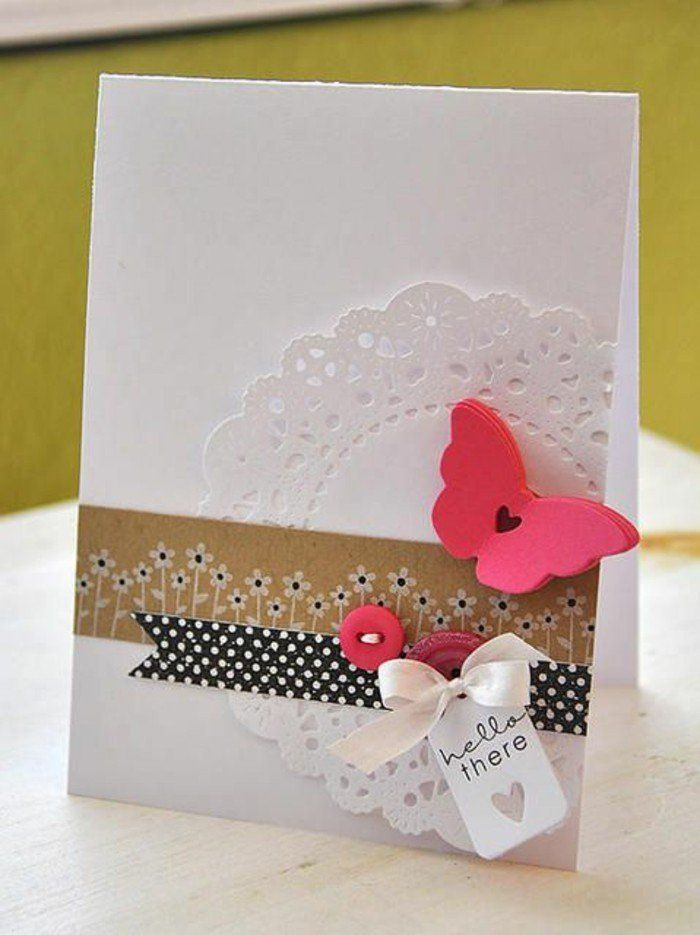 Schöne Geburtstagskarten  Schöne Geburtstagskarten schmetterling selber machen