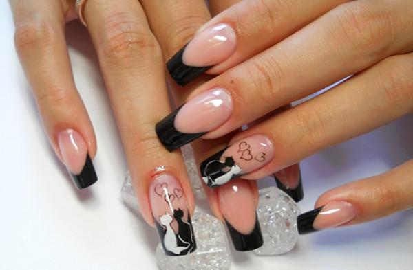 Schöne Nageldesign  1001 French nails Bilder Ihnen bei der Auswahl vom