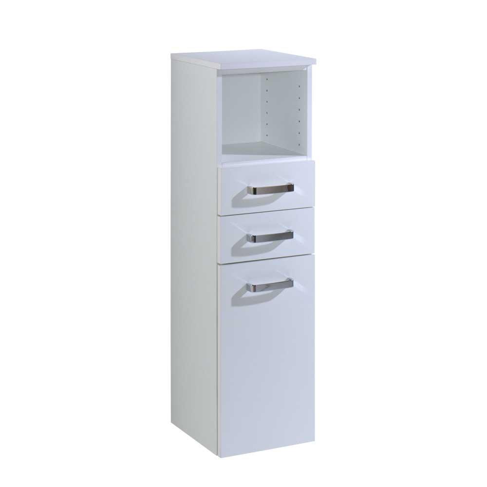 Schrank 30 Cm Breit  Bad Hochschrank Jadamos in Weiß 30 cm breit