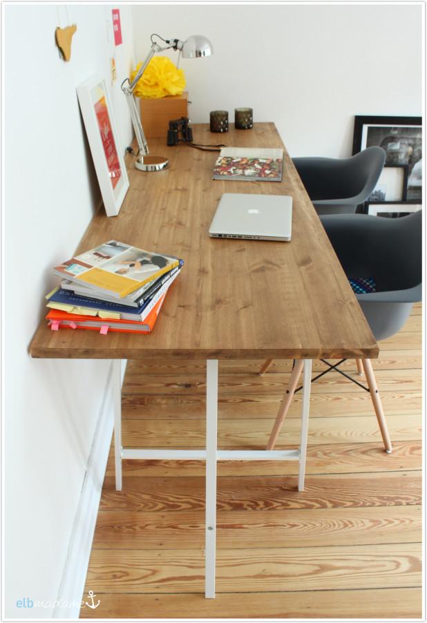 Schreibtisch Diy  DIY Schreibtisch günstig & schnell den Schreibtisch