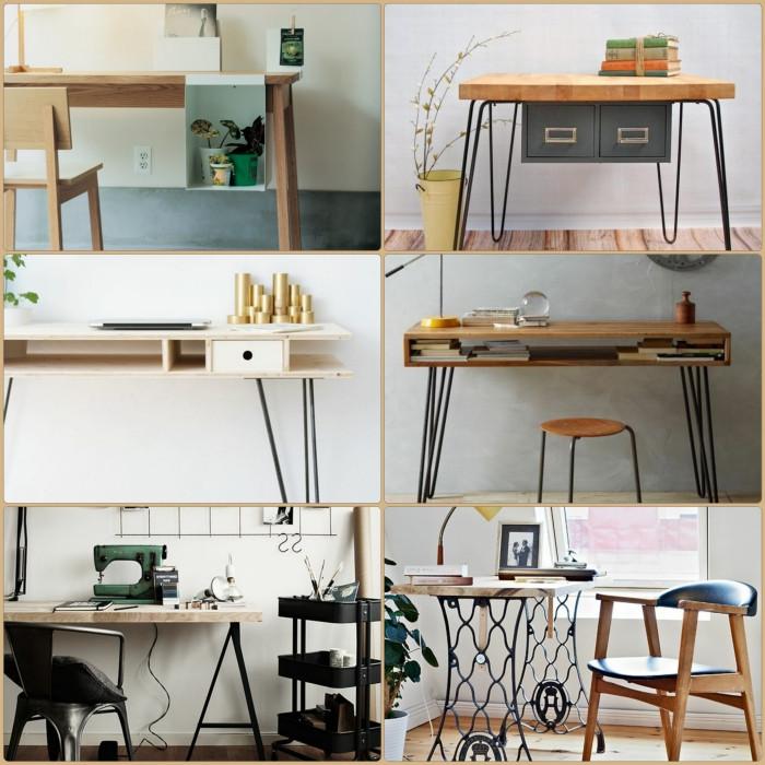 Schreibtisch Diy  DIY Projekt Schreibtisch selber bauen 25 inspirierende