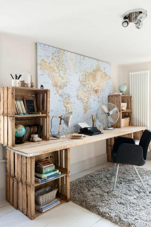 Schreibtisch Diy  1001 Ideen für Schreibtisch selber bauen Freshideen