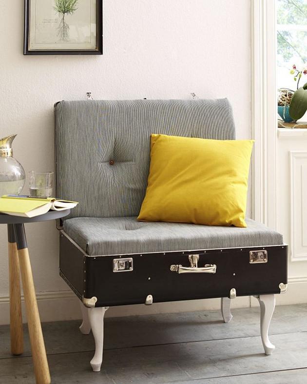 Sessel Diy  DIY Ein alter Koffer verwandelt sich in einen Sessel