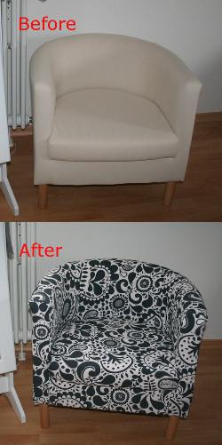 Sessel Diy  Kiwis & Krauts DIY Cover für IKEA Solsta Olarp Sessel