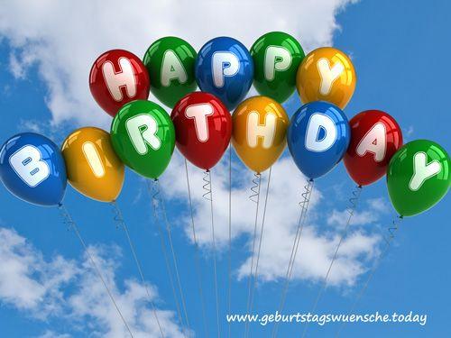 Sexy Geburtstagsbilder  Geburtstagsbild Happy Birthday mit Luftballons