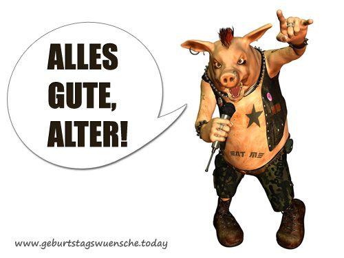 Sexy Geburtstagsbilder  Geburtstagsbild Lustiges Schwein Free spirit