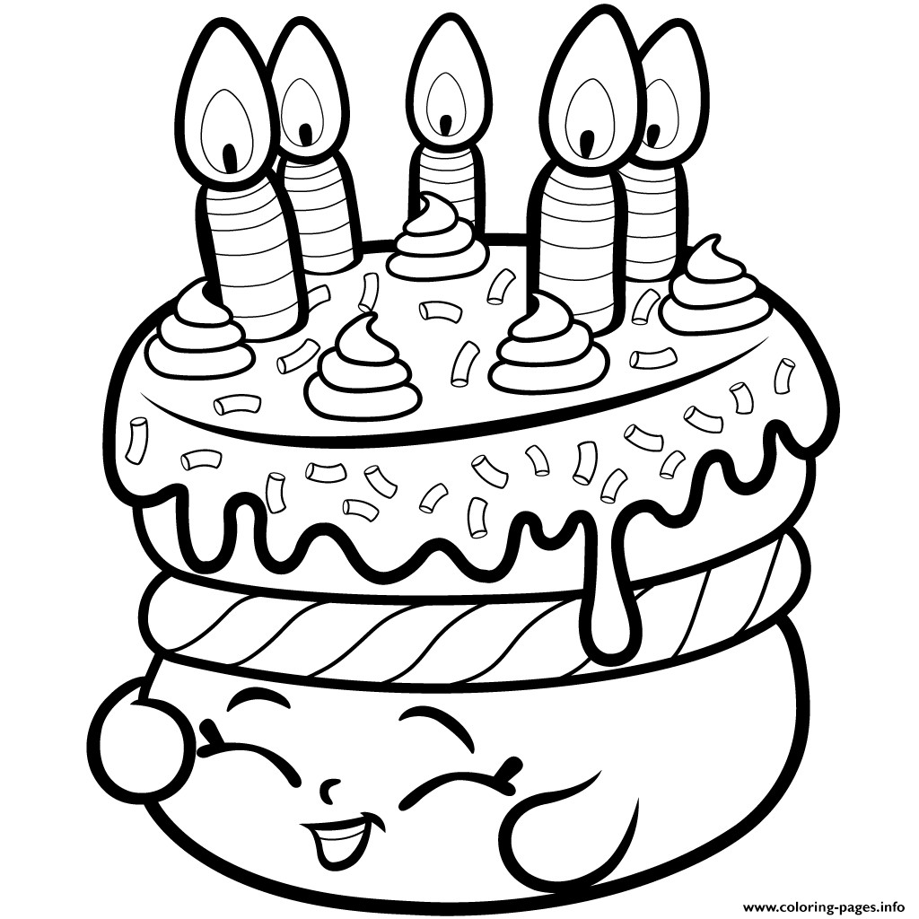 Shopkins Ausmalbilder  Print Cake Wishes shopkins season 1 from coloring pages