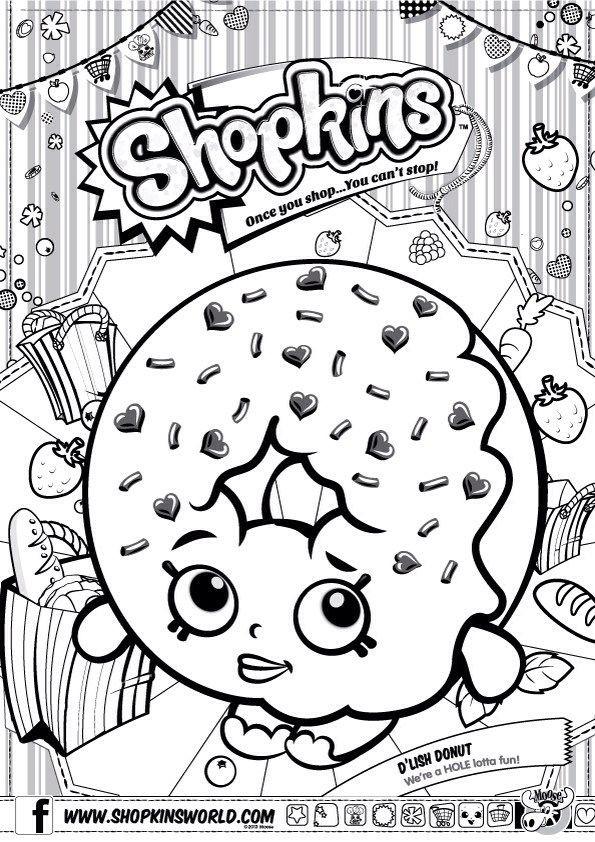 Shopkins Ausmalbilder  Shopkins Ausmalbilder Dlish Donut