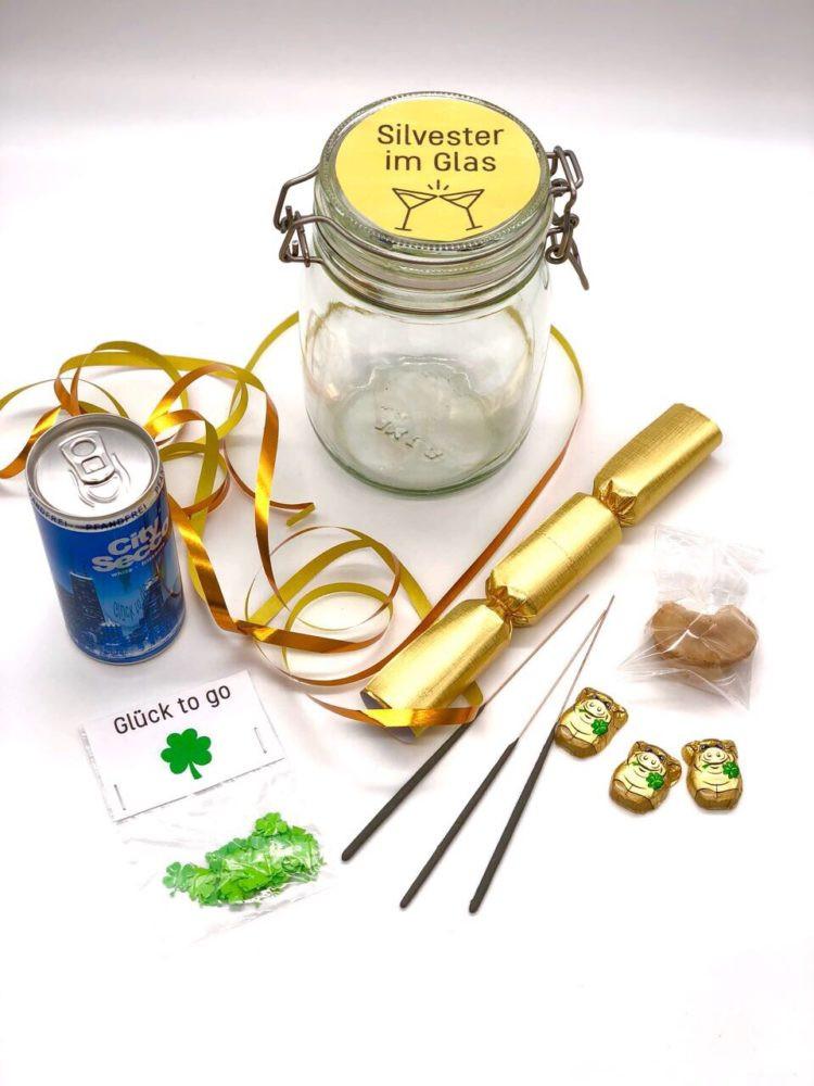 Silvester Geschenke  DIY Idee für ein einfaches Gastgeschenk oder Silvester