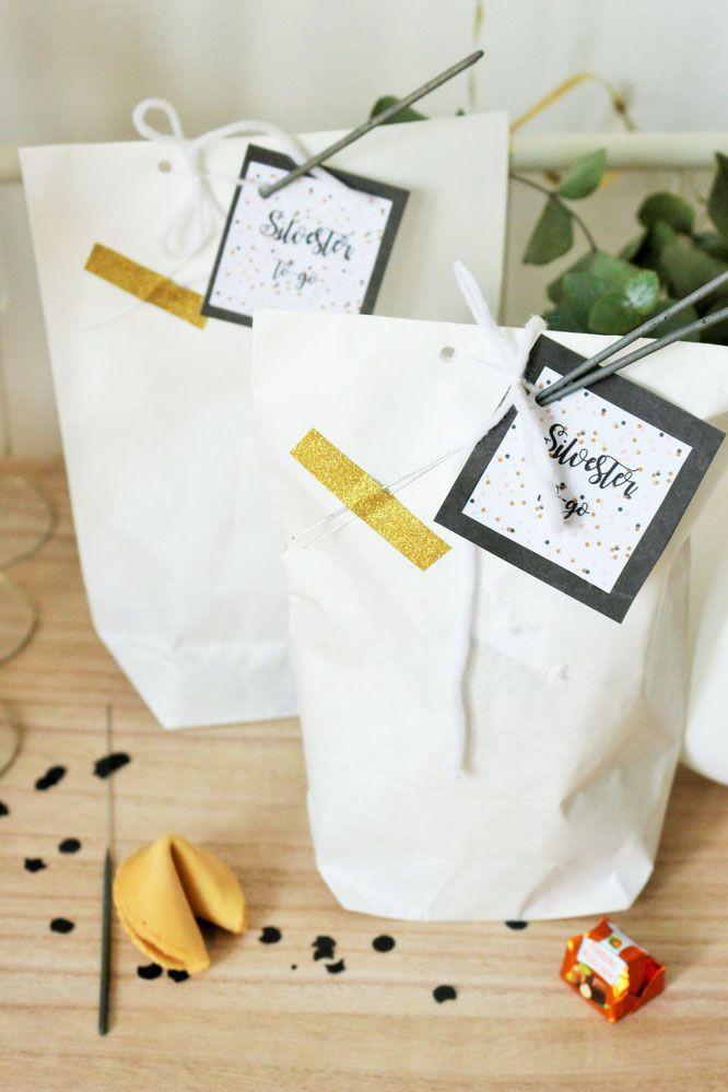 Silvester Geschenke  Ein schnelles DIY Geschenk für Silvesterparty
