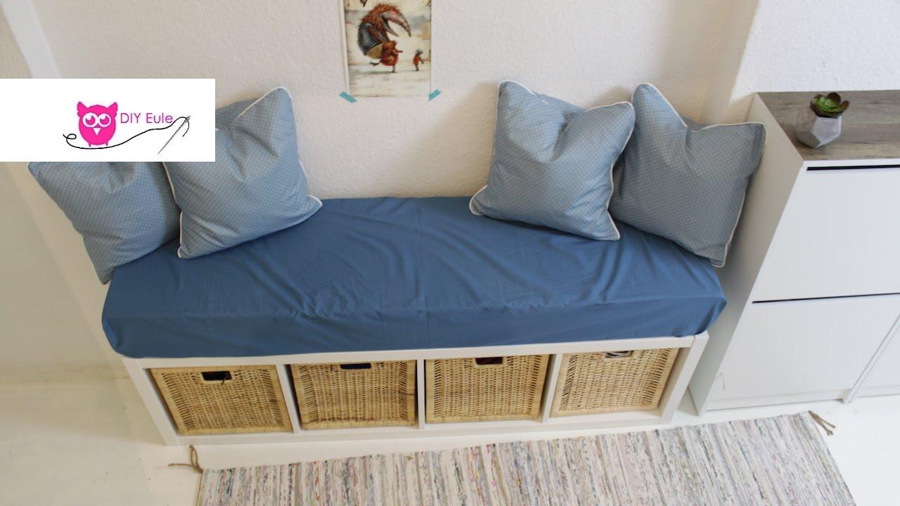 Sitzbank Diy  Sitzbank mit Bezug und Kissen Ikea Hack DIY Eule